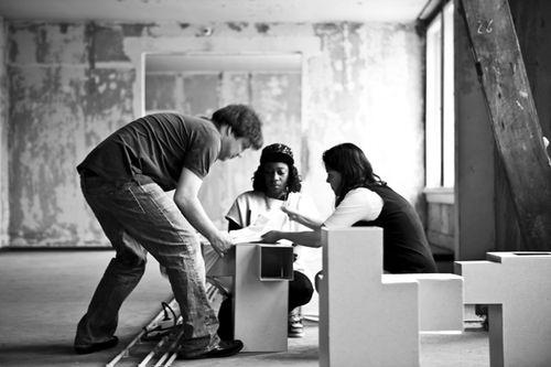Farida Sedoc en Marc en Nicole Maurer foto Marnix Postma