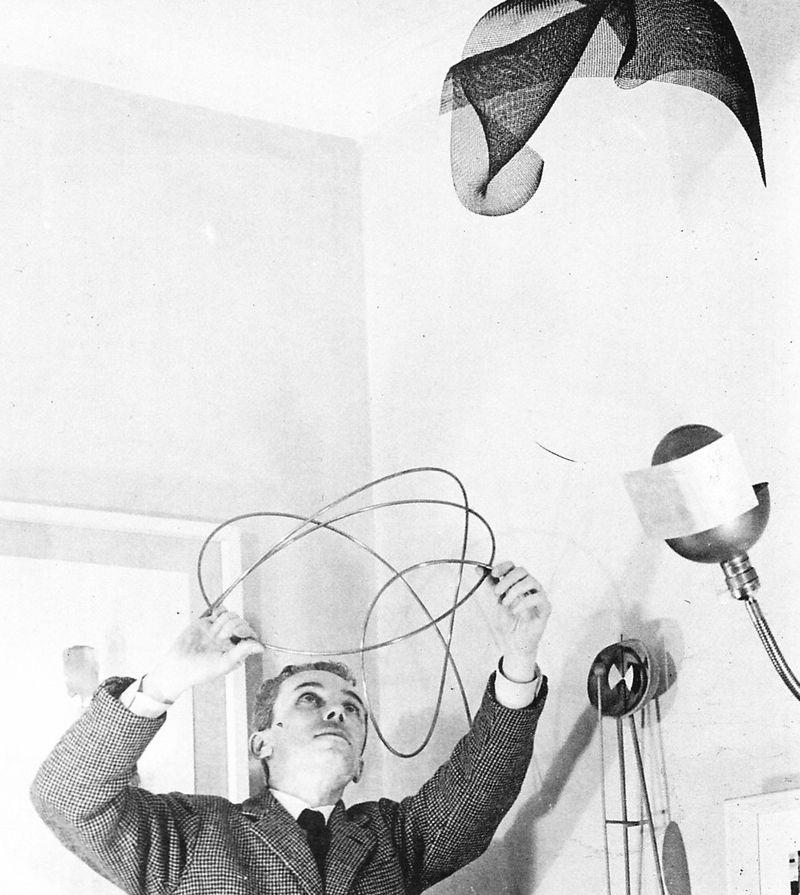 11. Bruno Munari in his studio