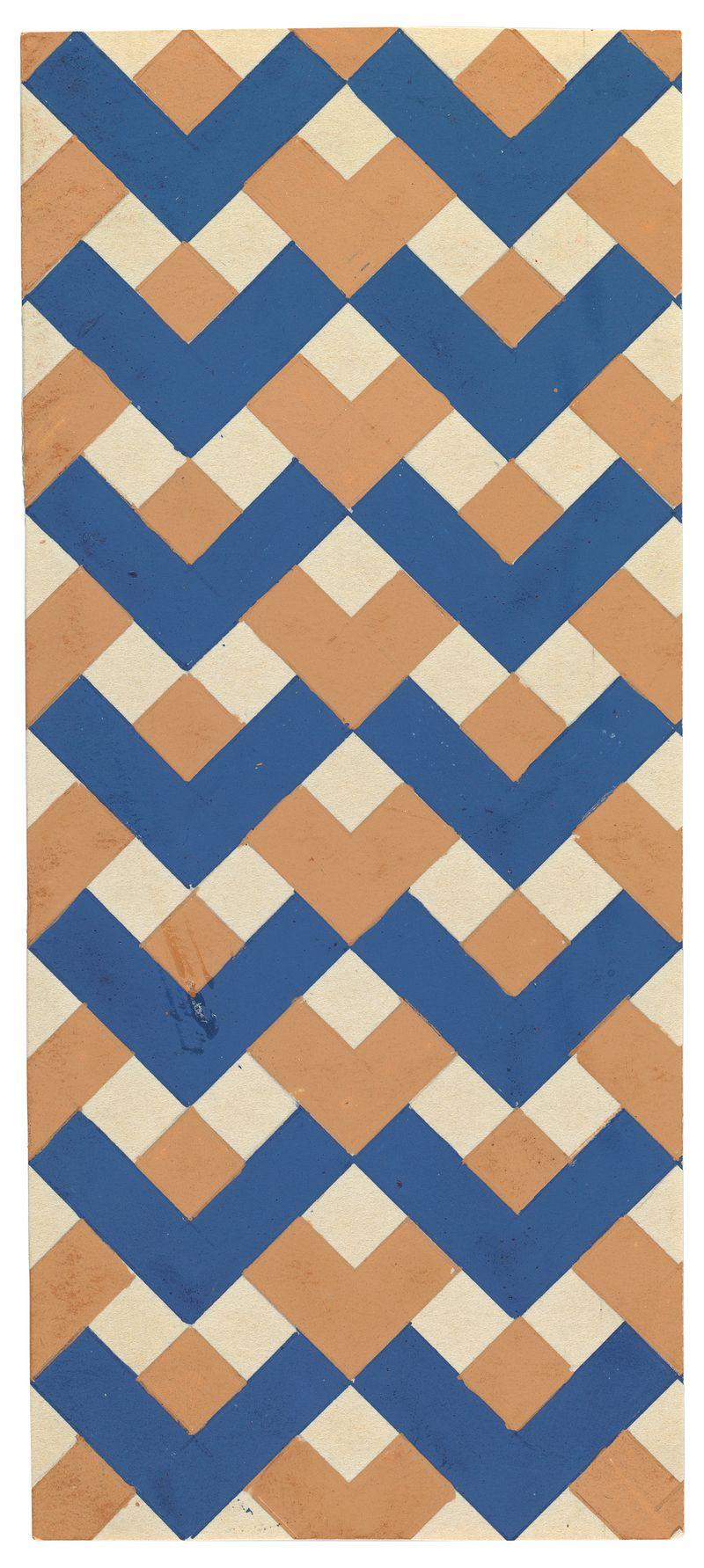13 Stepanova, Textielontwerp, 1923-1924
