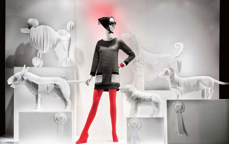 3 Show Dogs- Windows at Bergdorf Goodman