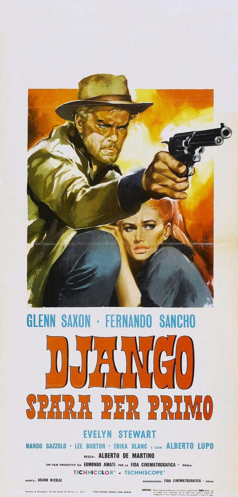 POSTER - DJANGO SHOOTS FIRST