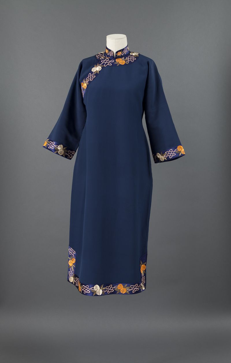 Blue qipao, 1940s, Private Collection, New York