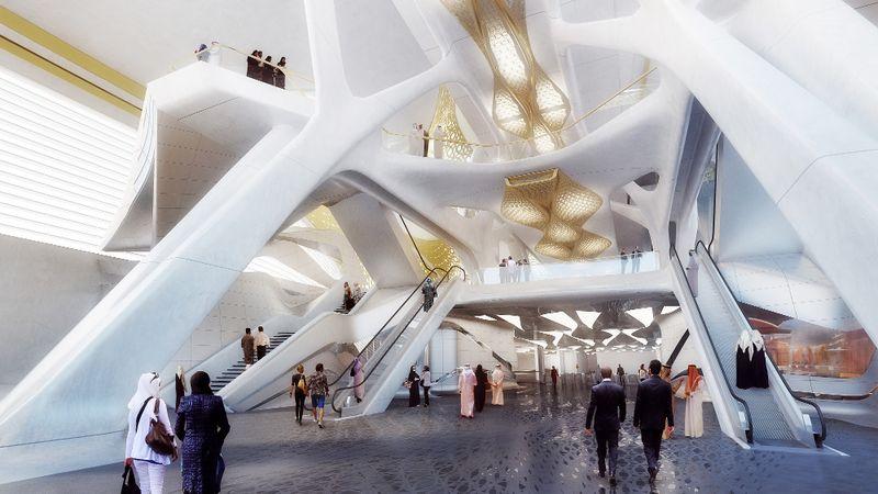 KAFD Metro Station_Interior 02