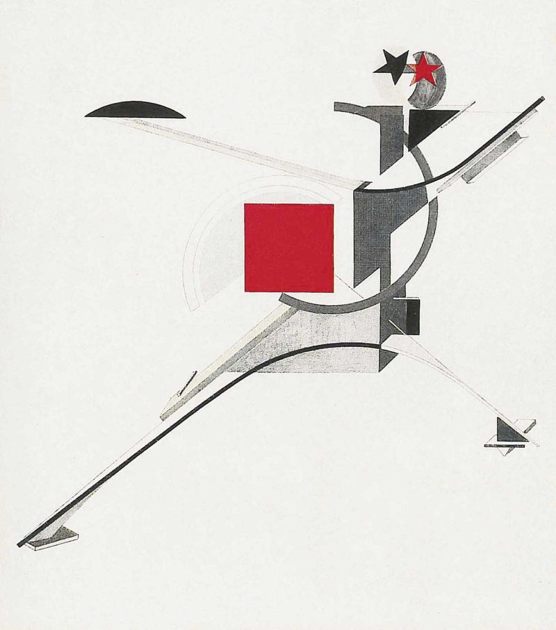 El Lissitzky, New Man, 1921, Courtesy GRAD Gallery for Russian Arts and Design