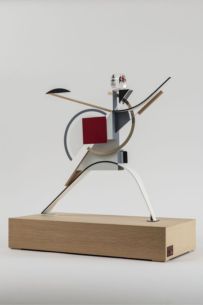Henry Milner after El Lissitzky New Man (Progress), 2013. Courtesy of GRAD Gallery for Russian Arts and Design