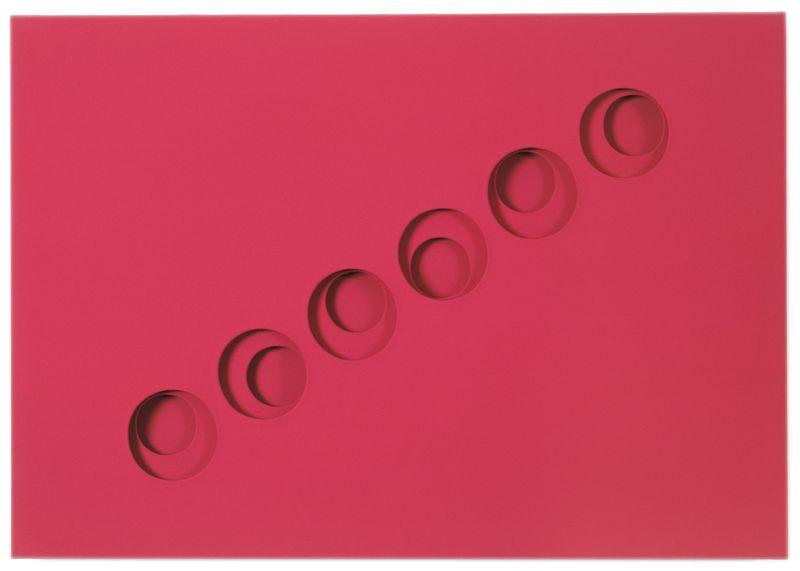 Paolo Scheggi, Intersuperficie Curva, 1968, (PS0519), acrylic on overlapping canvas, 70.4 x 100.4 x 5.8 cm, Private collection