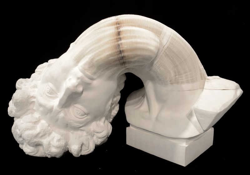 Li_Hongbo_Bust_of_David_paper_70x50x50cm_2012_3