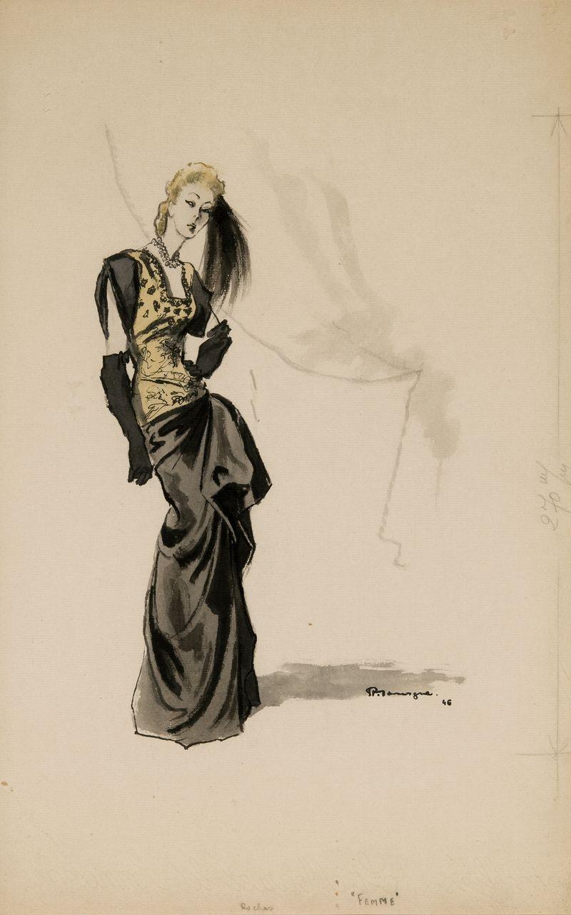24. Pierre Mourgue Femme 46x29cms