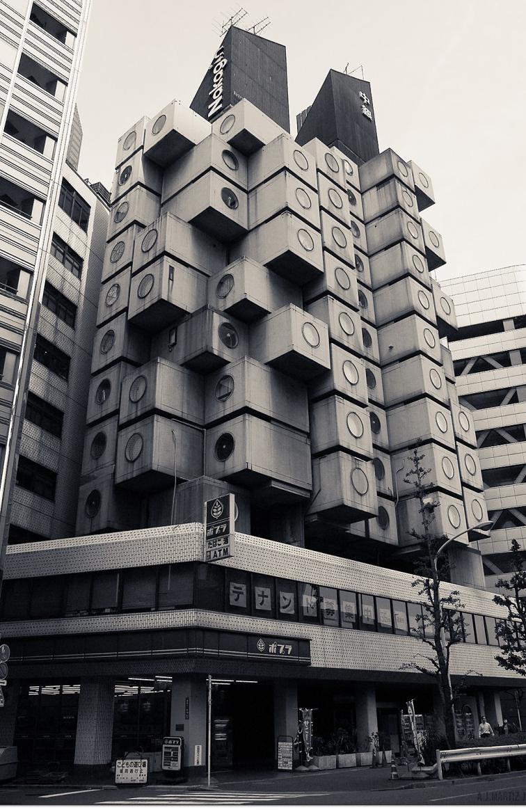 Nakagin Capsule Tower in Tokyo Japan_2