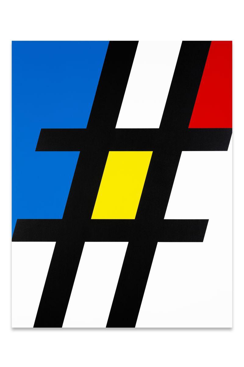 Hashtag Mondrian Composition 002, 2014, 108 x 140 cm