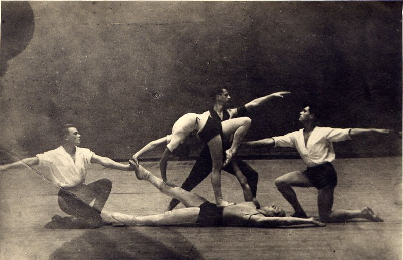 Photograph of rehearsals of The Bolt, 1931, Courtesy of GRAD and St Petersburg State Museum of Theatre and Music (17)