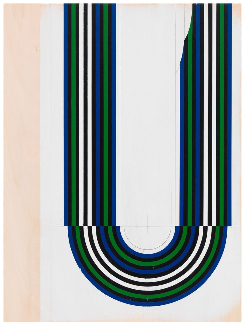 JW_Jens Wolf, 12.33, 2012, Acrylic on plywood, 115x86cm, Courtesy the artist and Ronchini Gallery