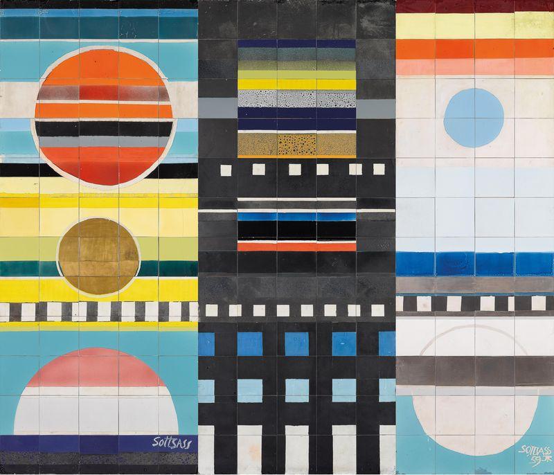 N. 37 Grande murale, progetto Ettore Sottsass, 1959