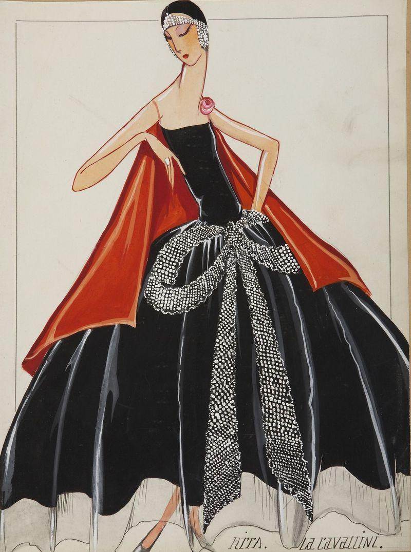 La Cavallini (dessin), 1925 -® Patrimone Lanvin (300)