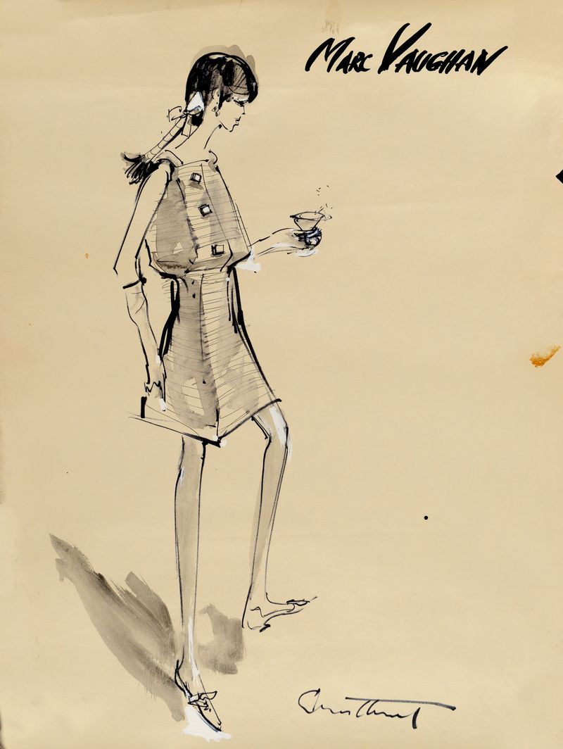 Irwin Crosthwait Marc Vaughan II 1966, Ink & Watercolour, signed 65 x 50 cms -ú1,400 -® GRAY MCA