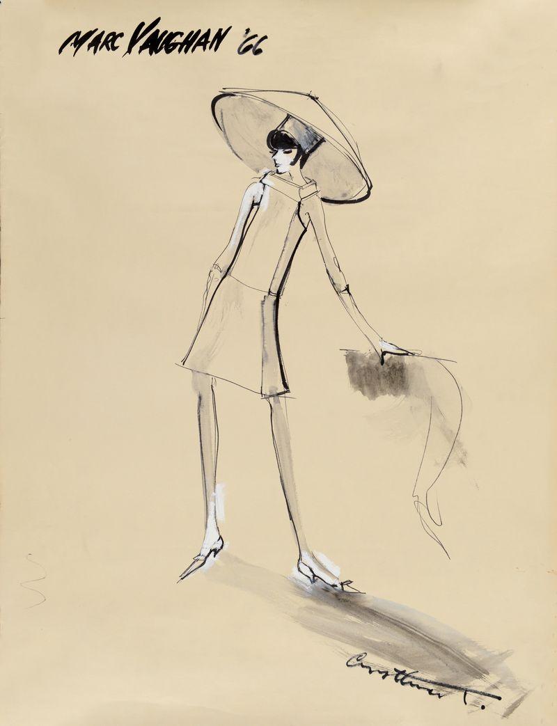 Irwin Crosthwait Marc Vaughan V 1966, Ink & Watercolour, signed 65 x 50 cms -ú1,400 -® GRAY MCA