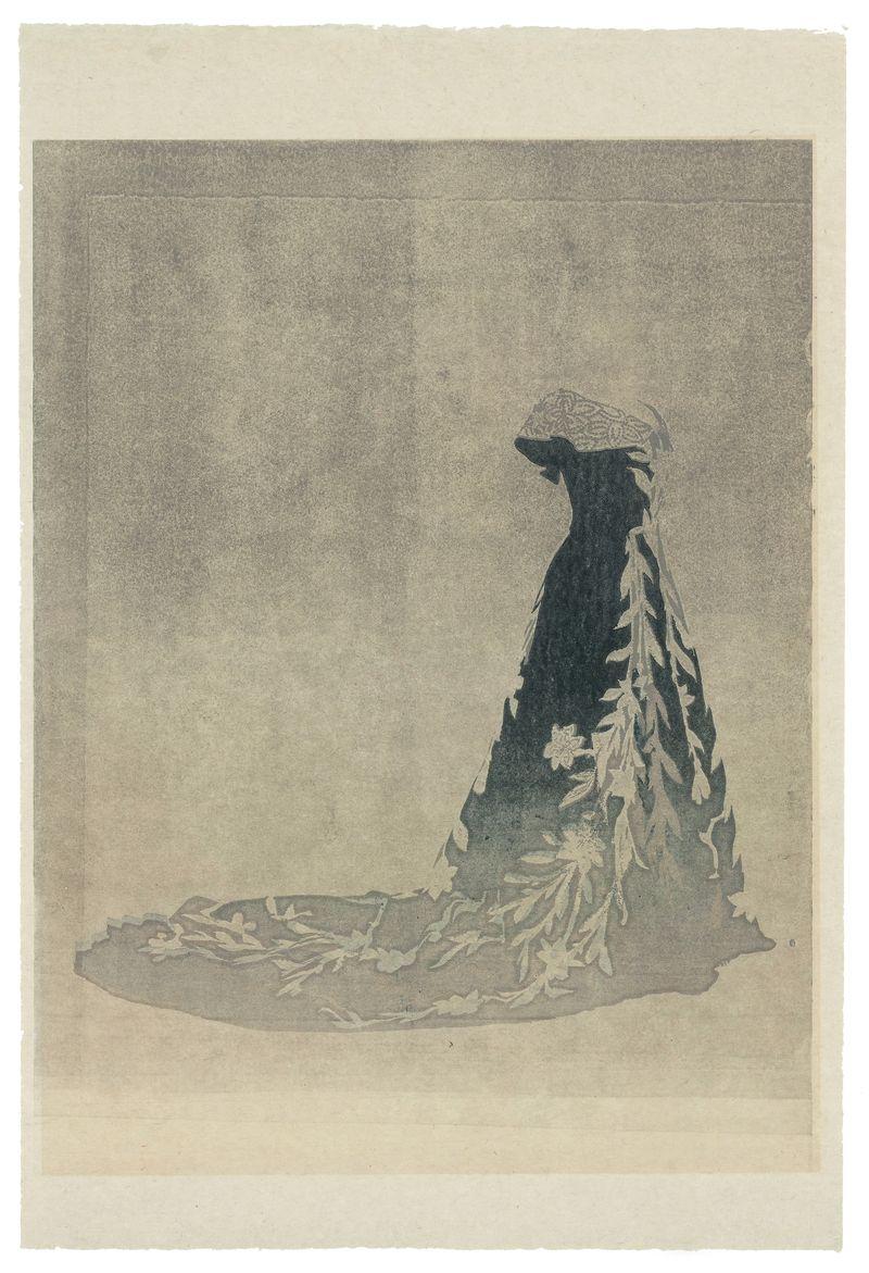 16 Worth, robe aux lys - illustration Aurore de la Morinerie