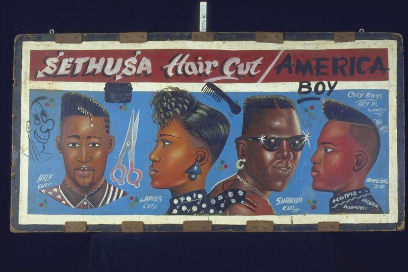 Kappersbord, Kumasi, voor 1998, collectie Tropenmuseum (2)