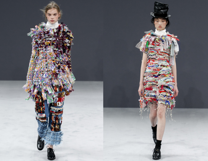 Sustainable Collage Couture Or Upcycling Gelsomina Viktor Rolf S Haute Couture A W 2016 Irenebrination Notes On Architecture Art Fashion Fashion Law Technology