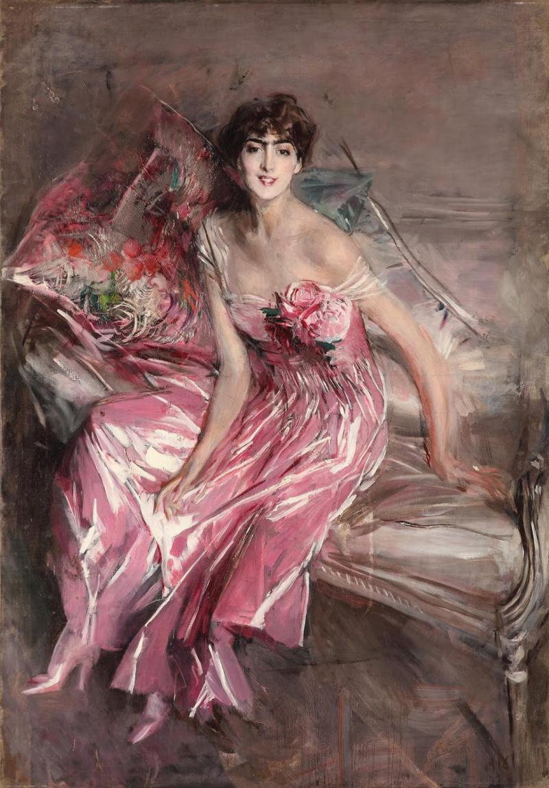 Boldini_Giovanni Boldini_La signora in rosa_Olivia de Subercaseaux Concha_ 1916