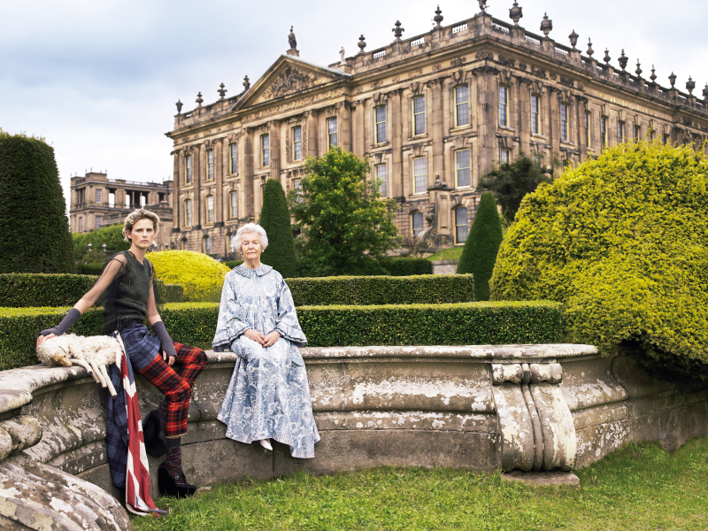 Dowager Duchess of Devonshire _ Stella Tennant  Chatsworth House  Bristish Vogue  2006 © Mario Testino