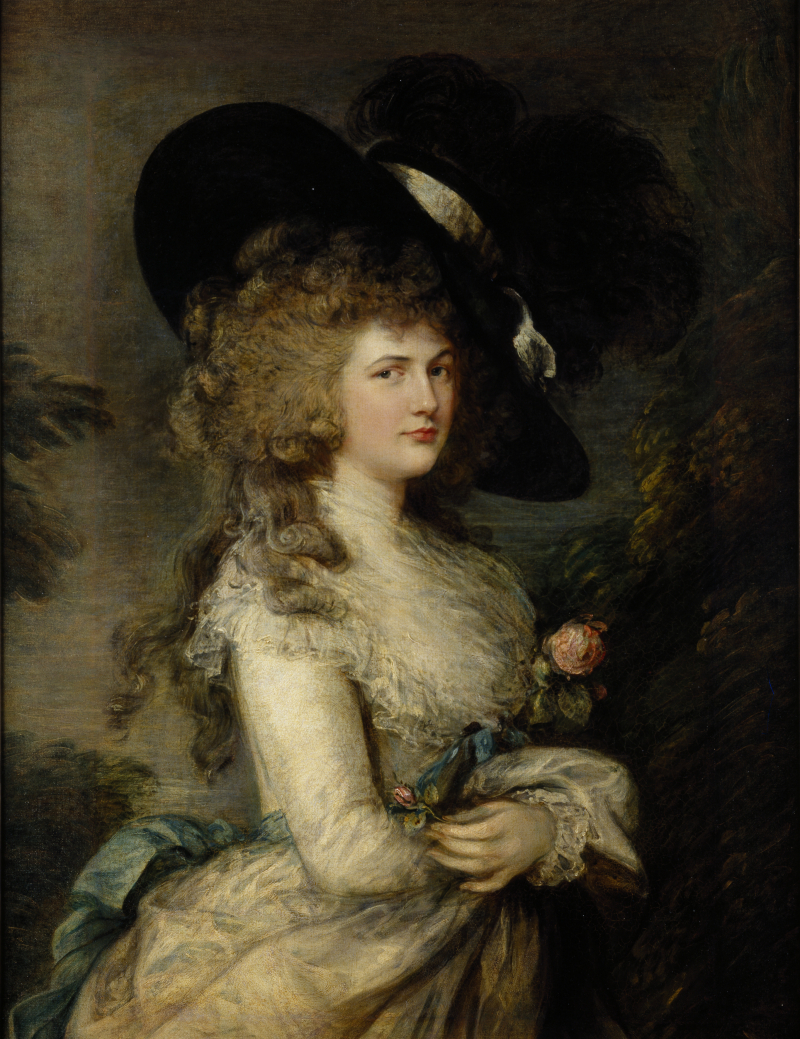Painting of Duchess Georgiana  Thomas Gainsborough 1785-1787 1091