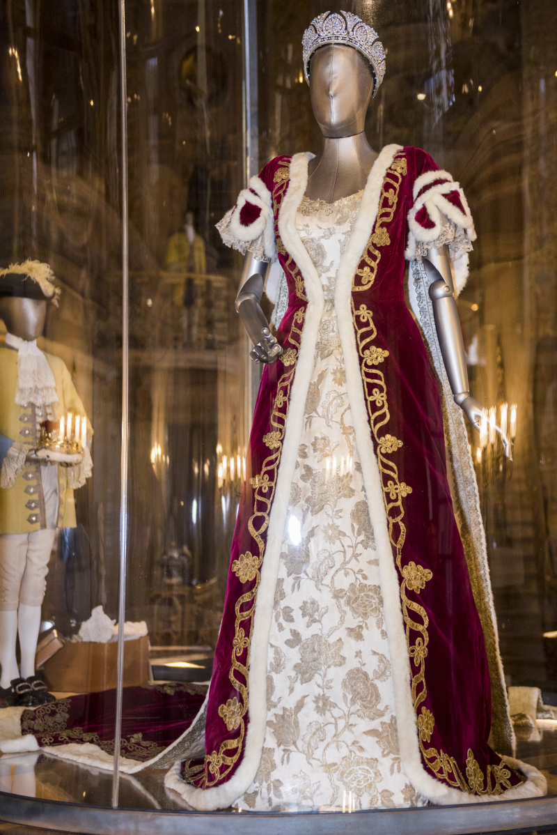 Coronation Robe in the Painted Hall at Chatsworth House Style