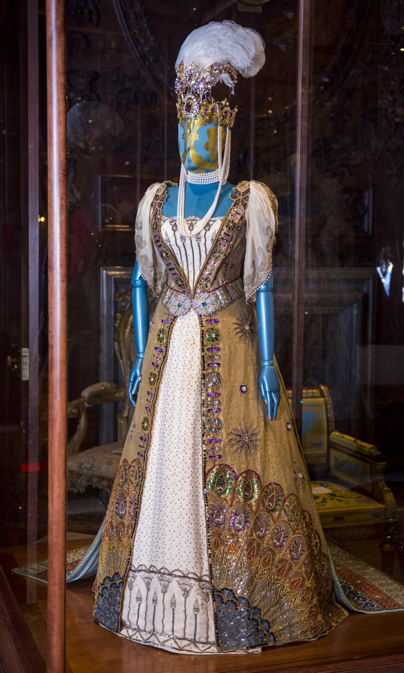 Duchess Louise's Worth dress from the Devonshire House Ball_ one of more than 100 dresses spanning 500 years of history at Chatsworth House Style