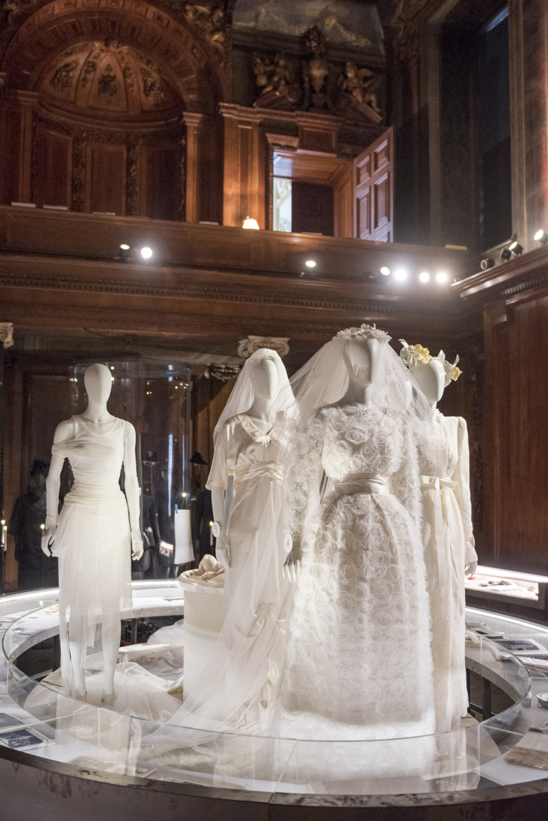 Wedding dresses of the family in the Chapel  part of the Circle of Life display