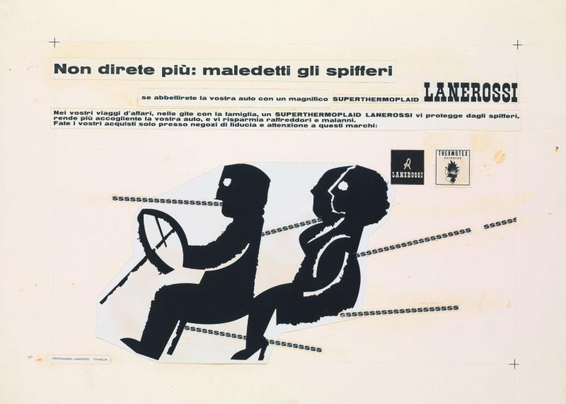 14 Pino Tovaglia annuncio pubblicitario per Superthermoplaid Lanerossi 1958 ca