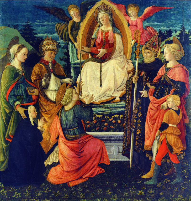 4_Filippo Lippi Fra Diamante La Madonna della Cintola a S.Tommaso 1456 1465 Prato  Museo di PalazzoPretorio