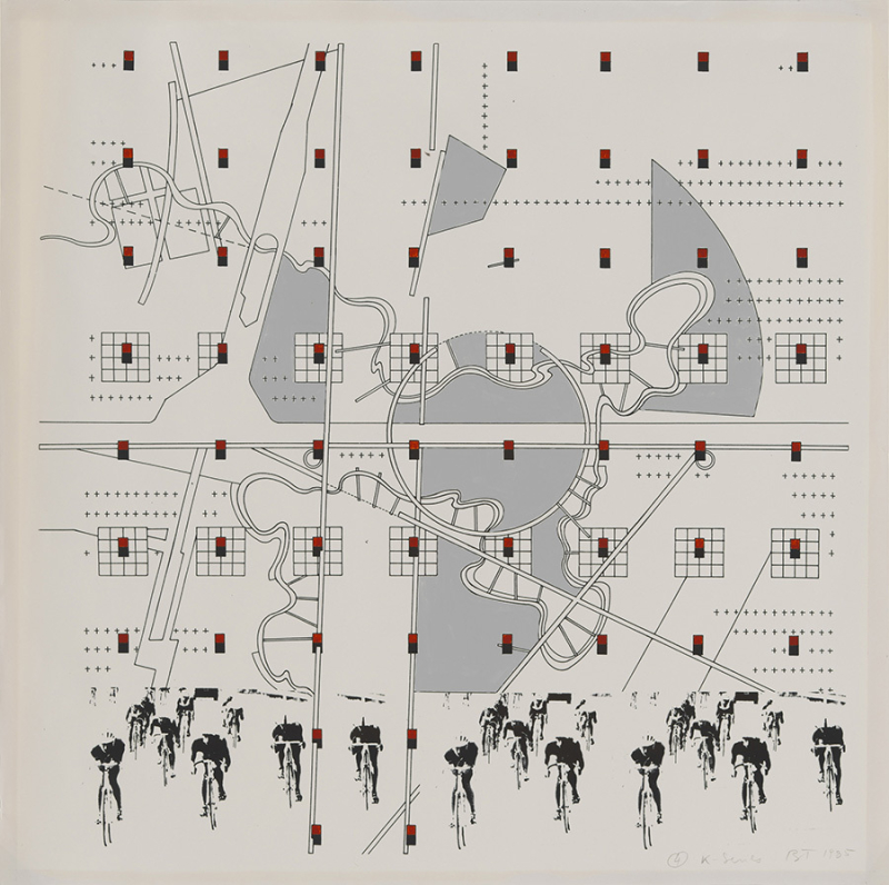 Bernard Tschumi  4 K Series  1985. Study for La Case Vide La Villette Folio 8 1985.