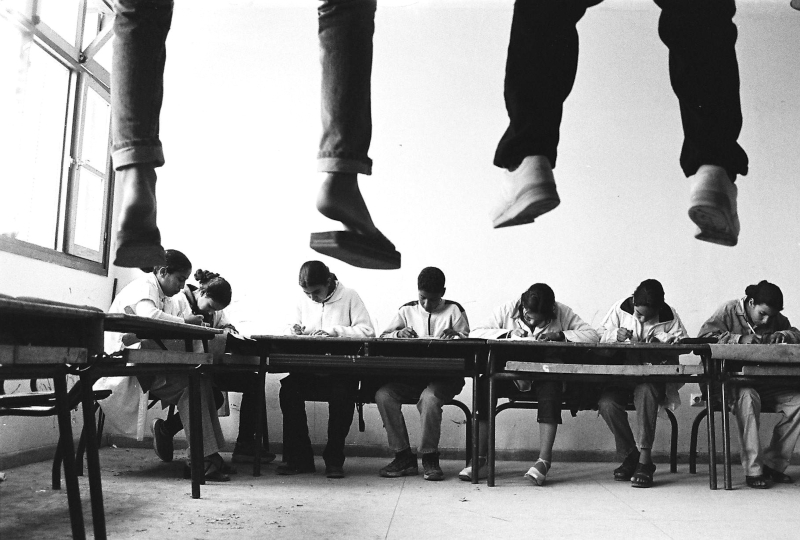 Hicham Benohoud  Untitled  La salle de classe  1994-2002  Silver photography on Baryta paper  50 x 60 cm  courtesy the artist