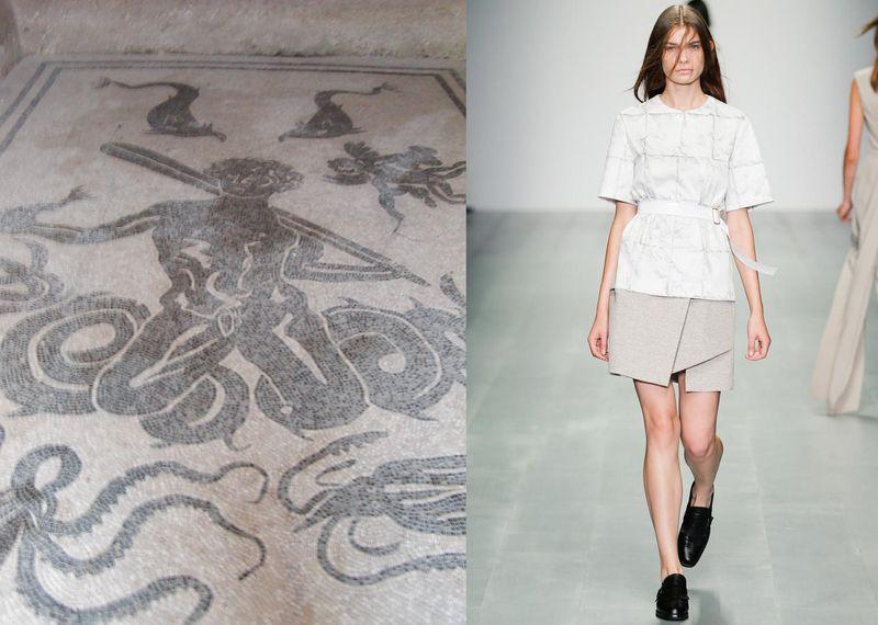 Fashionable Ruins: Herculaneum Vs Marios Schwab S/S 15