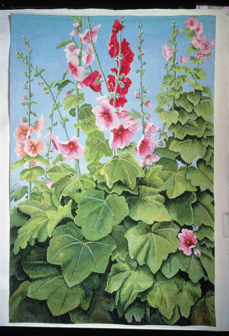 4. AMiB Kaffe Fassett - Hollyhock tapestry Traci Neise