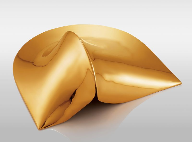 Agostino Bonalumi, Bronzo, 1969-2007, cast bronze, 18 x 38 x 42cm, Courtesy Archivio Bonalumi and Mazzoleni London