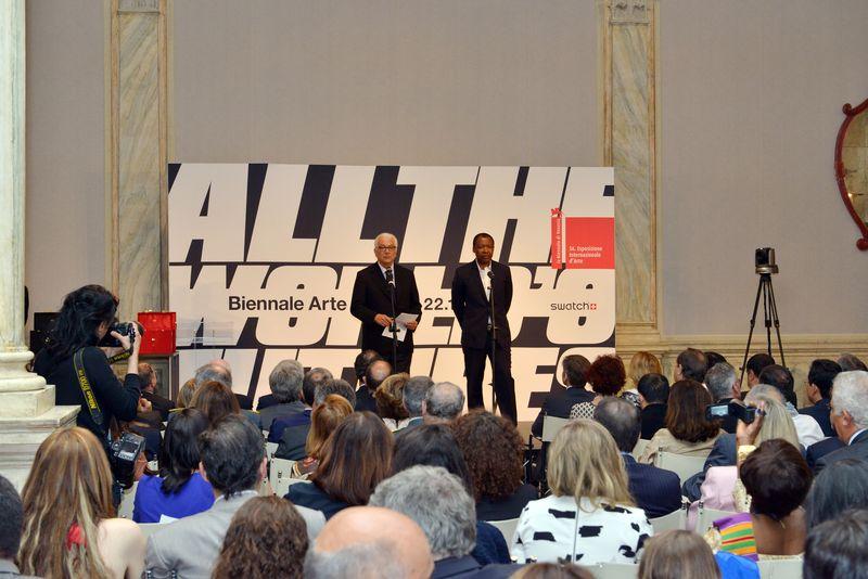 Baratta and Enwezor - Photo of Andrea Avezzù Courtesy of la Biennale di Venezia