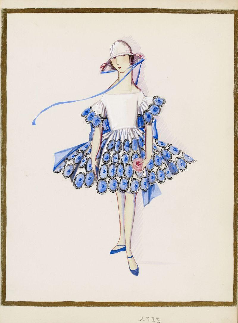 Les petites filles mod+¿les (dessin),  1925 -® Patrimoine Lanvin (300)