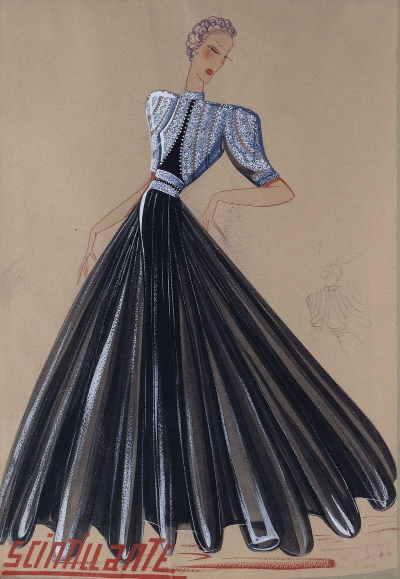 Scintillante (dessin), 1939 -® Patrimoine Lanvin (300)