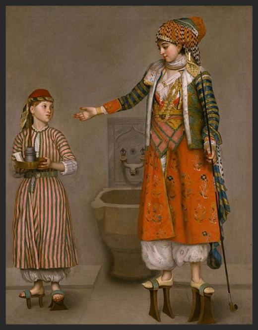 Jean-Etienne Liotard_Frankishwoman andher servant