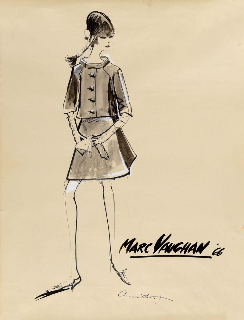 Irwin Crosthwait Marc Vaughan III 1966, Ink & Watercolour signed 65 x 50 cms -ú1,400 -® GRAY MCA