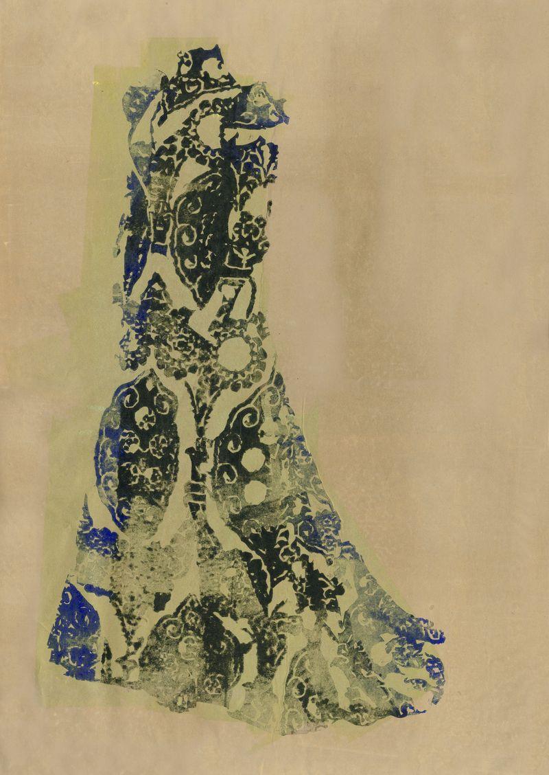 17 Worth, tea gown - illustration Aurore de la Morinerie