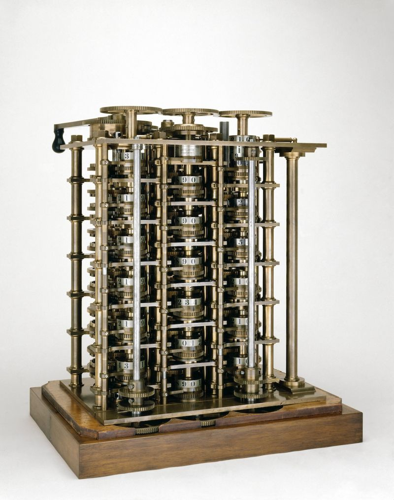 Difference-engine-calculating-machine