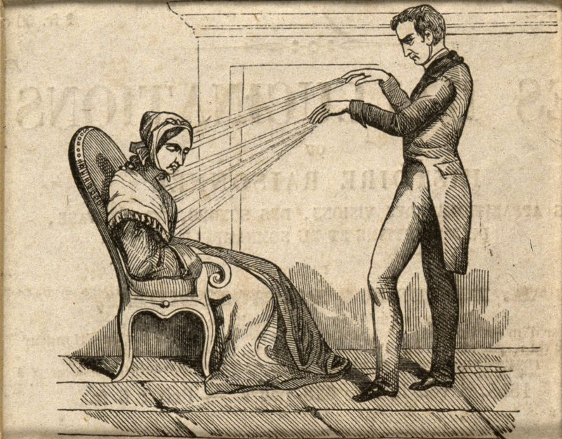 A practictioner of Mesmerism using Animal Magnetism