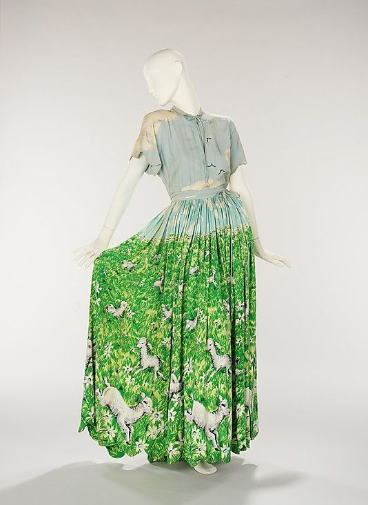 Gilbert Adrian, lambs in the pasture evening dress, ca. 1942. Metropolitan Museum of