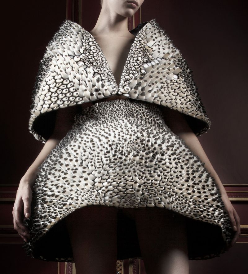 01_Anthazoa cape and skirt, Voltage Collection_van Herpen_Oxman_2