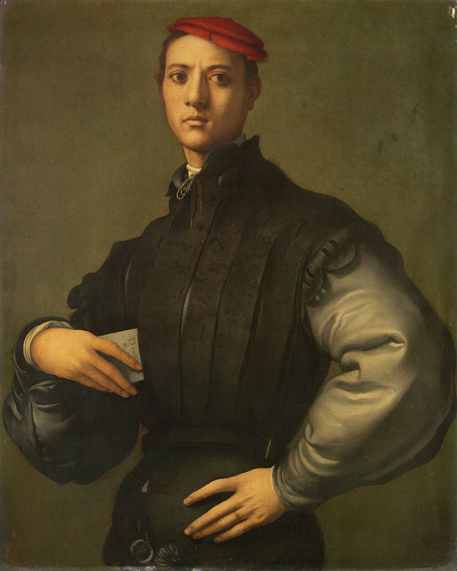 Portrait of a Young Man in a Red Cap by Jacopo Pontormo