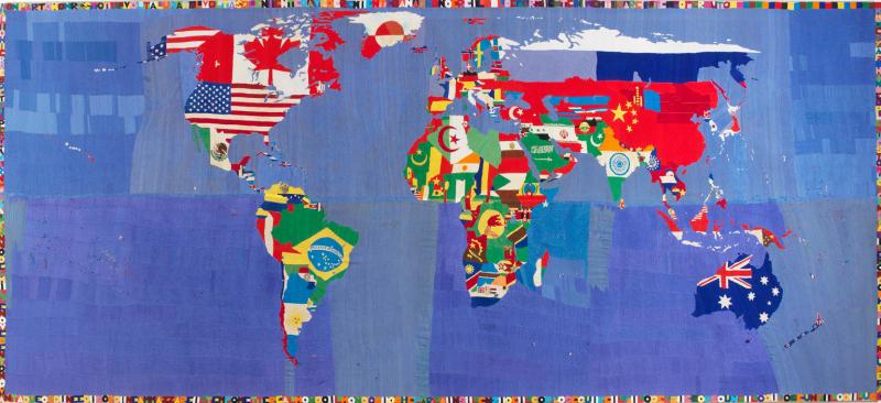 2. Alighiero Boetti  Mappa  1989-94  ricamo su tessuto  254x588 cm. Courtesy Tornabuoni Art