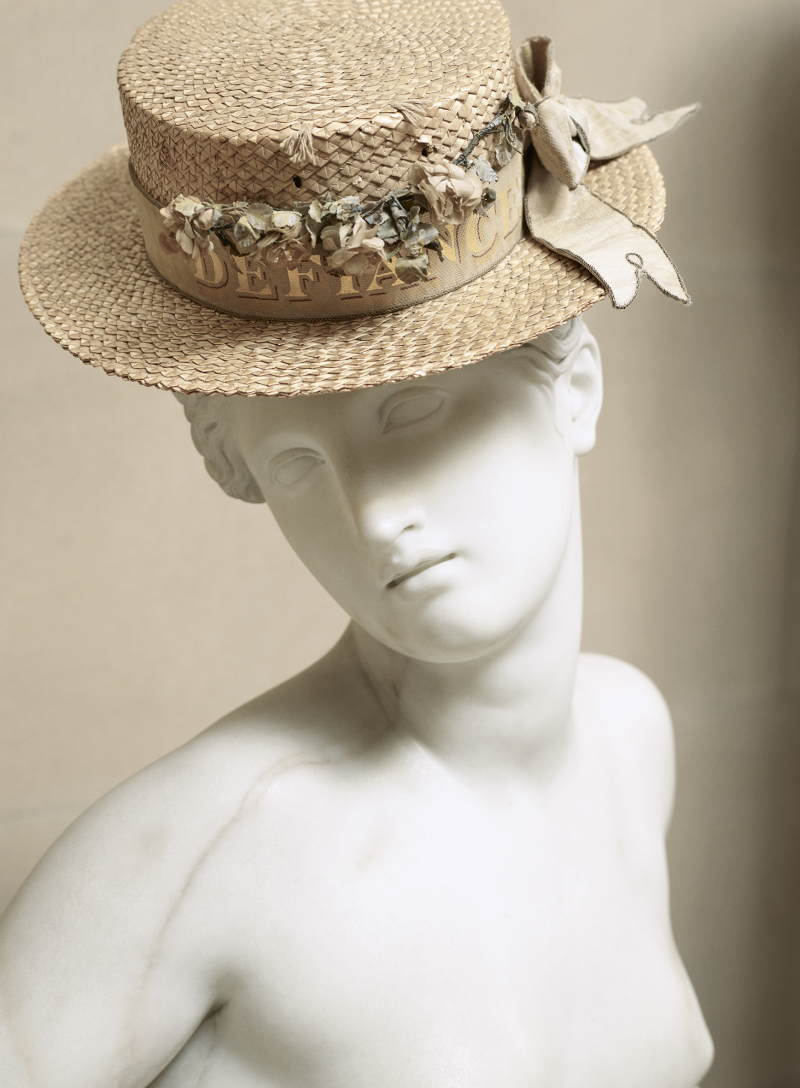 Eton 'Defiance' straw hat  E C Devereux  1950s. Thomas Loof  Copyright Devonshire Collection  Chatsworth