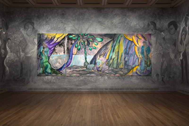 X9562 (b) Chris Ofili_Installation view b